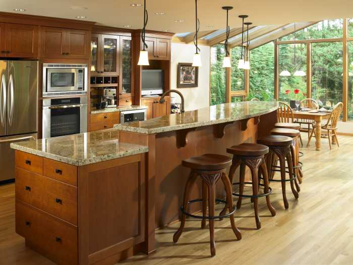 Semi custom cabinetry - Kitchen island designs with seating for 6 ...