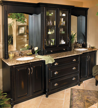 Custom painted bathroom vanity custom jeffrey william pplump for Custom bathroom cabinets
